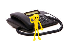 Phone support concept Royalty Free Stock Photo