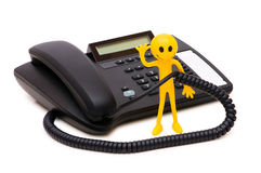 Phone support concept Stock Images