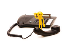 Phone support concept Royalty Free Stock Image
