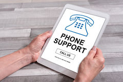 Phone support concept on a tablet Stock Image