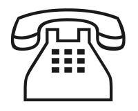 Phone symbol. Closeup of phone symbol on white background Stock Image
