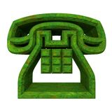 Phone symbol in grass - 3D Royalty Free Stock Image