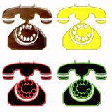 Phone symbol isolated Royalty Free Stock Photo