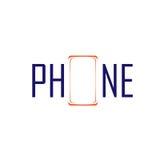 Phone symbol and logo Stock Photography