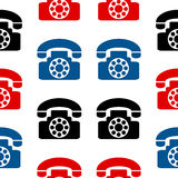 Phone symbol seamless pattern Stock Photo