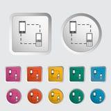 Phone sync single icon. Vector illustration Royalty Free Stock Photography