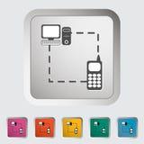 Phone sync single icon. Vector illustration Royalty Free Stock Image