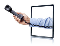 Phone Tablet Call Business royalty free stock photography