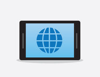 Phone Or Tablet Globe Symbol Stock Photography