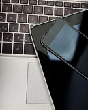 Phone and tablet pc Royalty Free Stock Photo