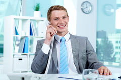 Phone talk Royalty Free Stock Image