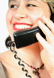 Phone talk. Chatting on the phone Royalty Free Stock Images
