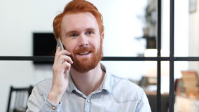 Phone Talk, Answering Call At Work. High quality Stock Image