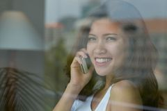 Phone talk Stock Images