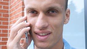 Phone Talk, Face Close Up Stock Photography