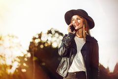 The Phone Talk Royalty Free Stock Image