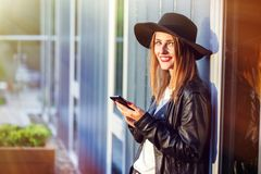 The Phone Talk Stock Photography