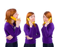 Phone talking Stock Photography