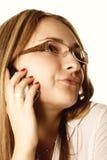 Phone talking woman Royalty Free Stock Image