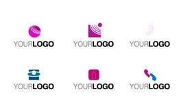 Phone telecommunication logo Royalty Free Stock Photo
