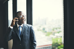 On the Phone Telemcommunication Calling Mobility Concept.  royalty free stock photo
