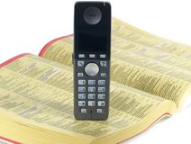 Phone and telephone directory Royalty Free Stock Photo