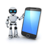 Phone telephone and robot Royalty Free Stock Photography
