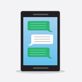 Phone Text Messages Stock Image