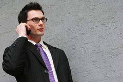 On the phone to a client Royalty Free Stock Image
