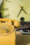 The phone with a traditional image. Royalty Free Stock Photography