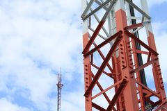Phone transmission towers Stock Photos