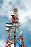 The phone transmission towers Stock Photo