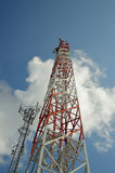The phone transmission towers Stock Photography