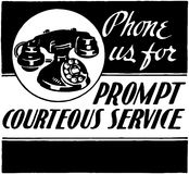 Phone Us For Courteous Service Stock Photos