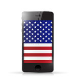 Phone with us flag illustration design Stock Photos