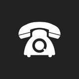 Phone vector icon. Old vintage telephone symbol illustration Royalty Free Stock Images