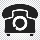 Phone vector icon. Old vintage telephone symbol illustration. Si Stock Images