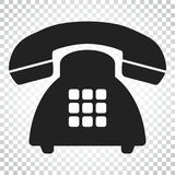 Phone vector icon. Old vintage telephone symbol illustration. Si royalty free illustration