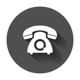 Phone vector icon. Old vintage telephone symbol illustration wit Stock Image