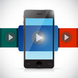 Phone video display illustration design Stock Photos