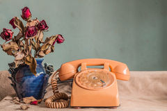 Phone with vintage images. Stock Photography