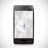 Phone and watch. illustration design Royalty Free Stock Photography