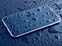 Phone Water Drops Royalty Free Stock Images