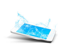 Phone water vector illustration