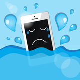Phone into the water Stock Photography