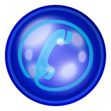 Phone web button Stock Image