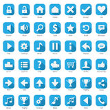 Phone Web Internet Blue Icon Set Stock Images