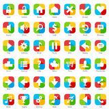 Phone Web Internet Icon Set Royalty Free Stock Photo