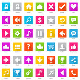 Phone Web Internet Icon Set Stock Photography