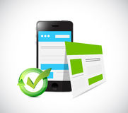 phone web responsive site illustration design Royalty Free Stock Photography